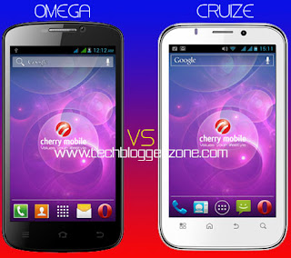 Cherry Mobile Omega vs. Cherry Mobile Cruize Specs Faceoff!