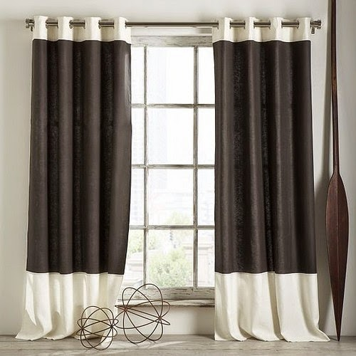 How to choose curtains for living room style fabrics and for Black and white curtain designs