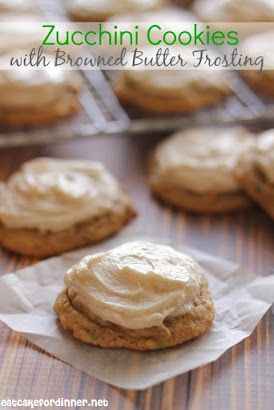 Softest Zucchini Cookies with Brown Butter Frosting
