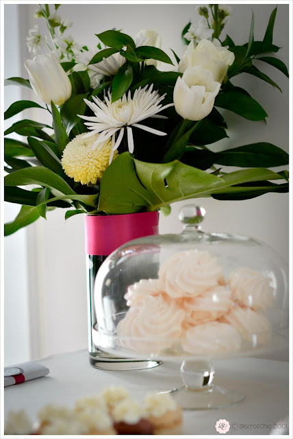 Party flower arrengement from BistrotChic