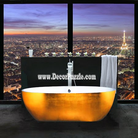 luxury golden bathtubs for modern bathroom, most expensive bathtub 2015