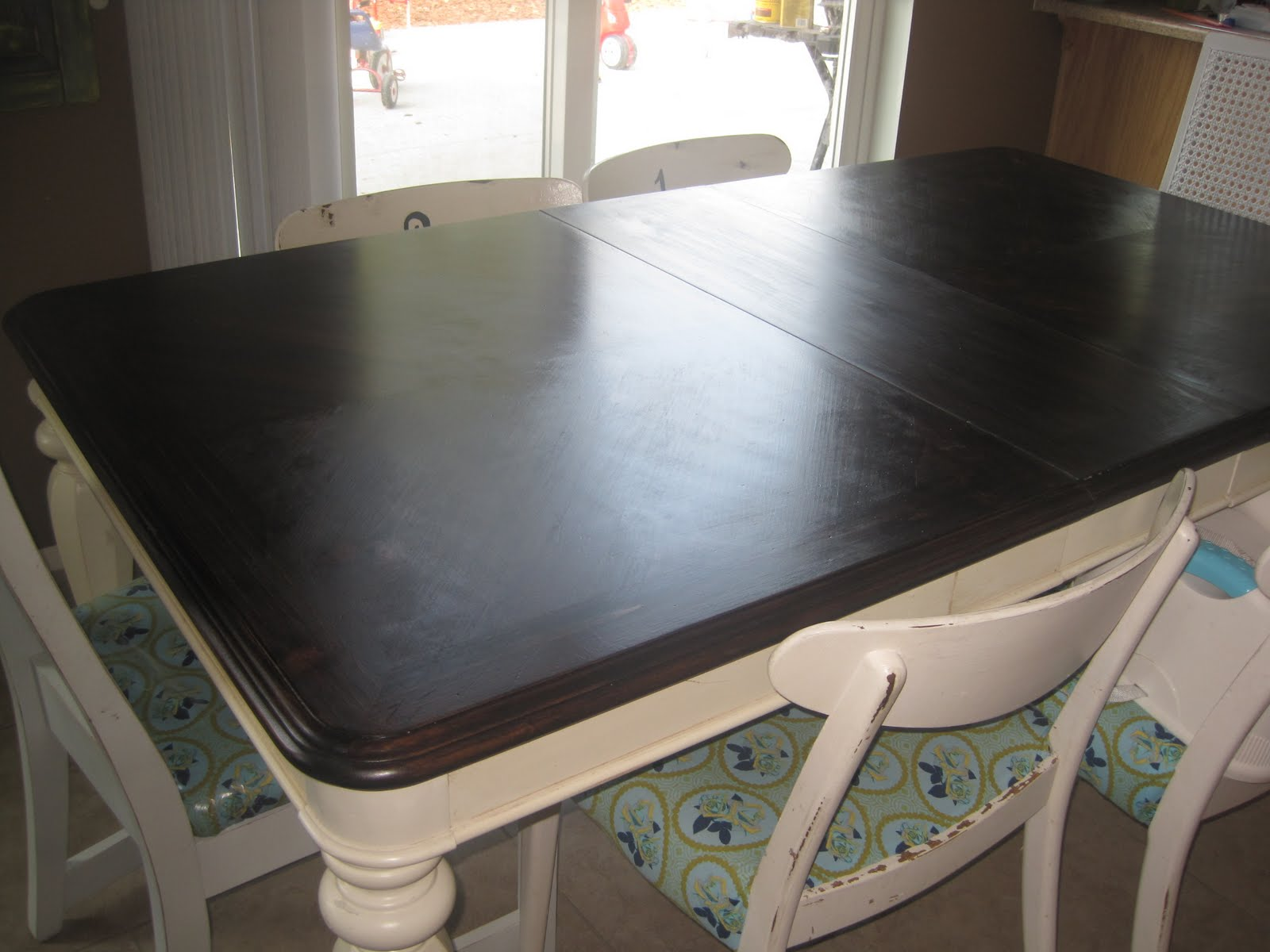 refinishing a veneer tablea tutorial - fabulously flawed