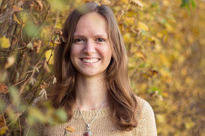 Herbst-Bild, Portrait Frau