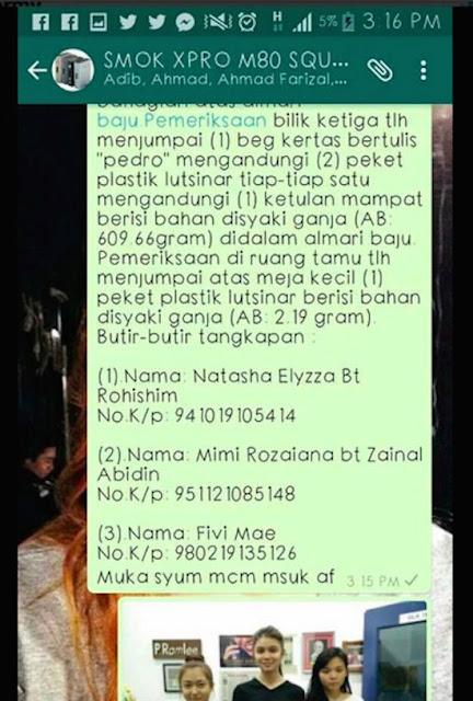 Pelakon Drama Mimi Lana Di Tahan Polis Kerana Memiliki Ganja & Eramin 5?