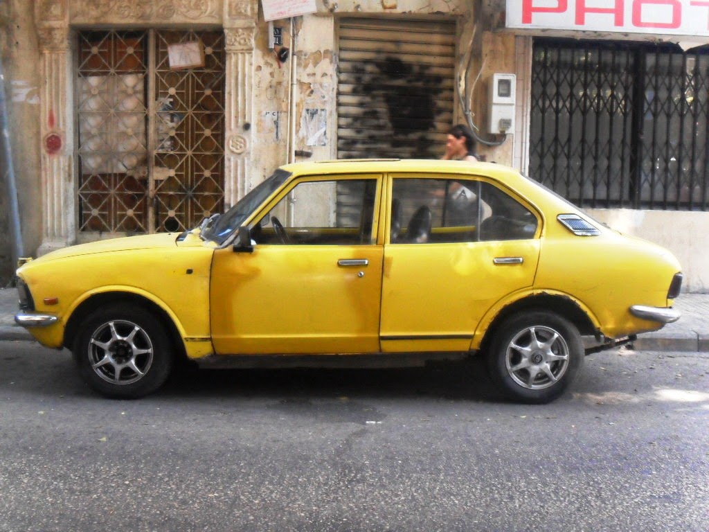Tarek Chemaly: Of yellow vintage cars in Beirut. #flashback