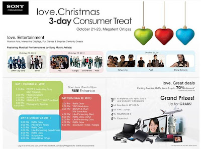 Sony love.Christmas 3-day Consumer Treat!