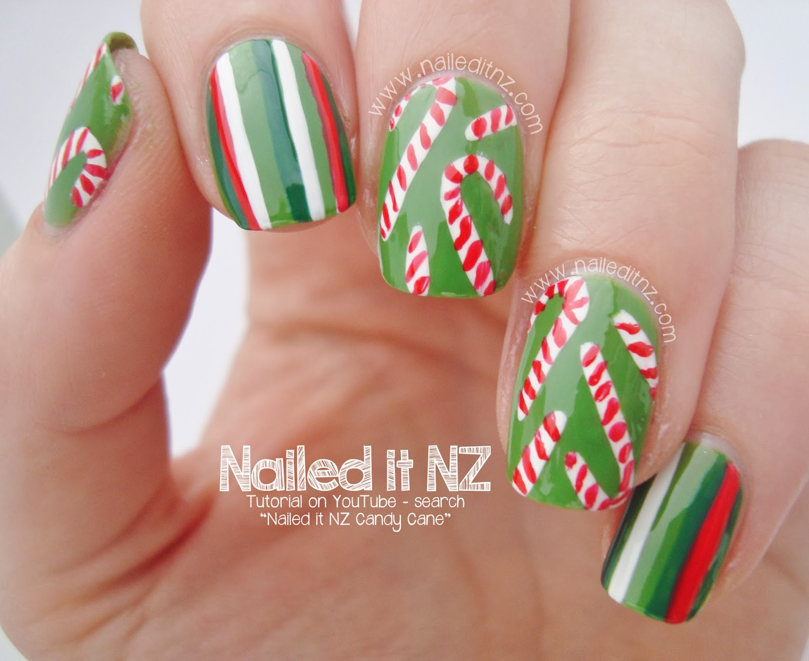 Christmas candy nail art tutorial 12 days of christmas nail art an error occurred prinsesfo Choice Image