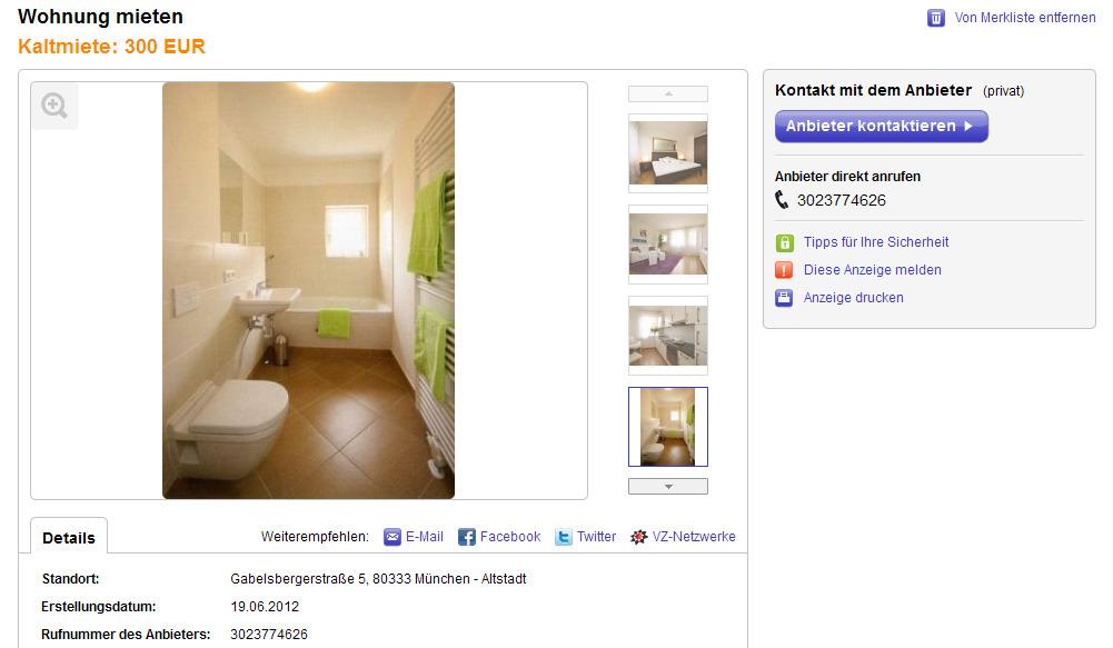 Ebay Wohnung Kleinanzeigen