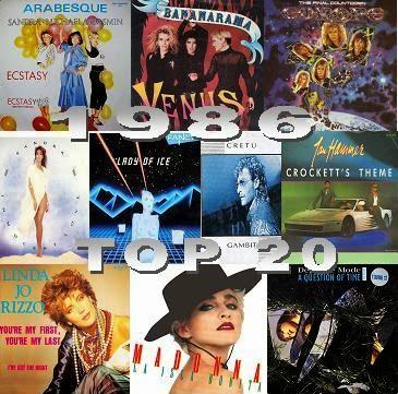 1986 Top 20 zene