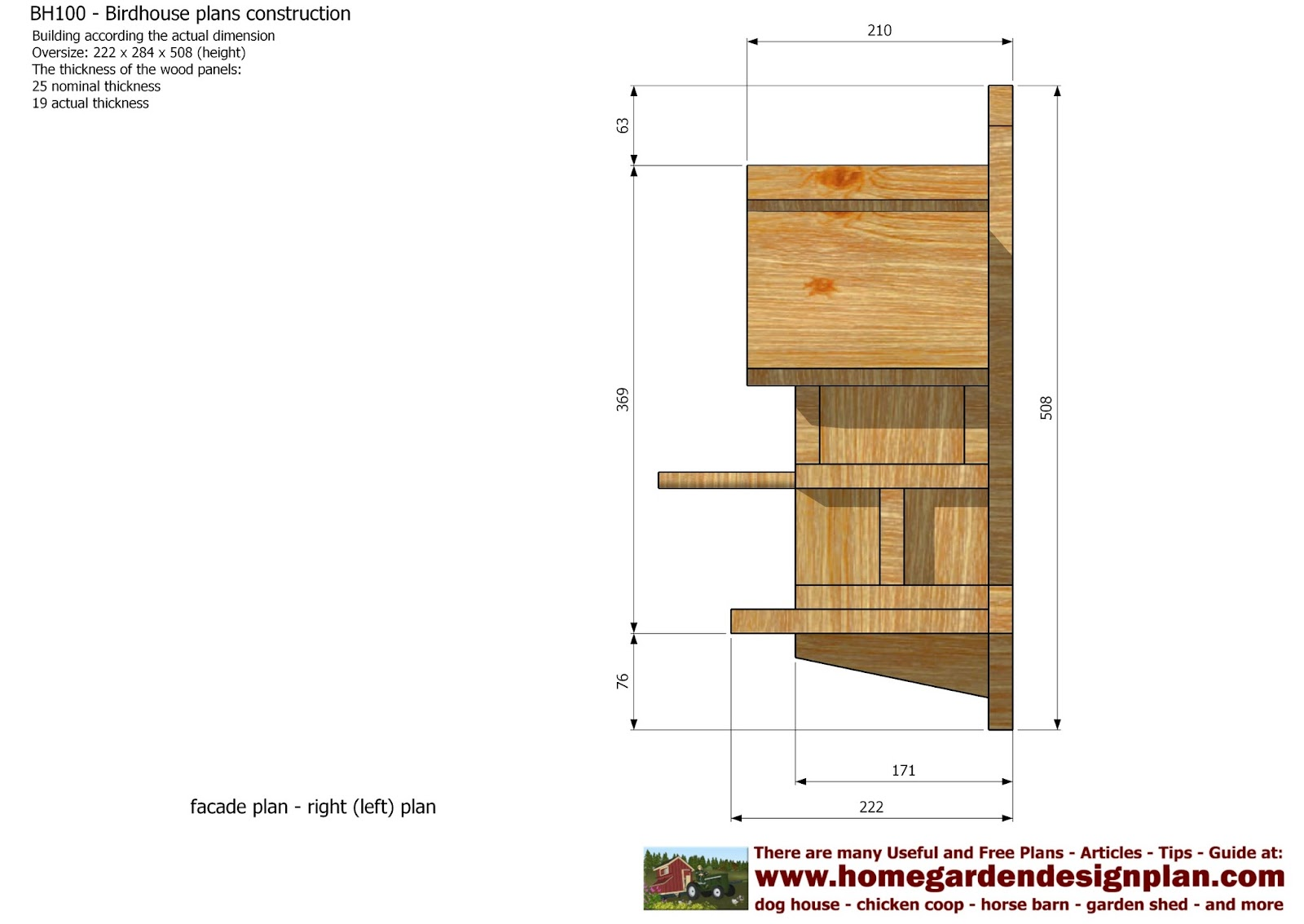 Home garden plans bh100 bird house plans construction for House plans to build