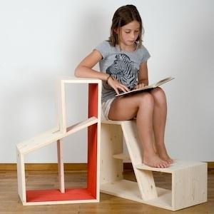 multifuncional cadira prestatgeria