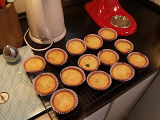 Blåbærcupcakes bagte
