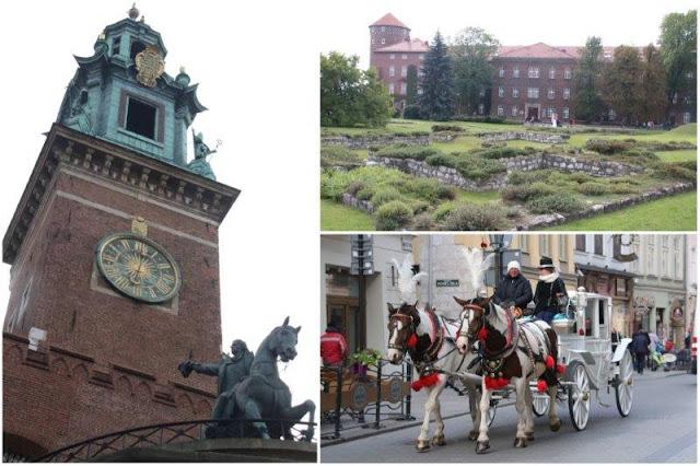 Monumento a Kosciuszko y Catedral de Wavel – Vestigios de iglesias en Wavel – Carruaje por las calles de Cracovia