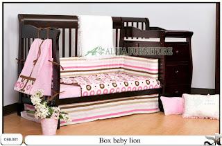 Tempat tidur balita box baby lion