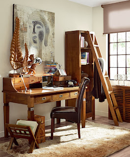 Oficinas y despachos de estilo colonial for Muebles despacho baratos