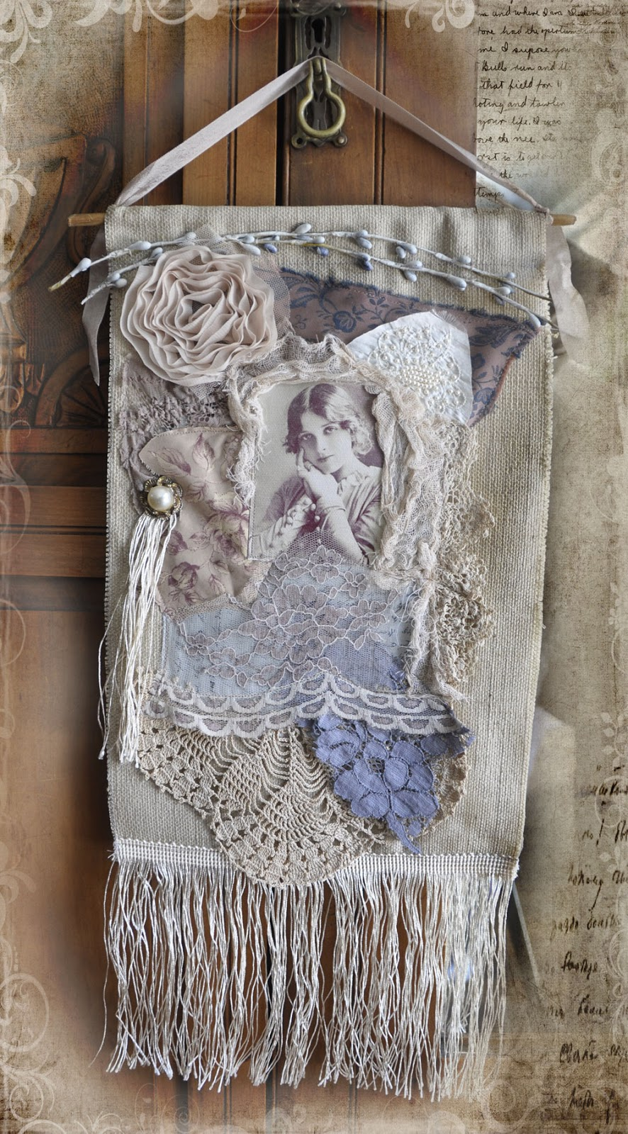 vintage lace collage