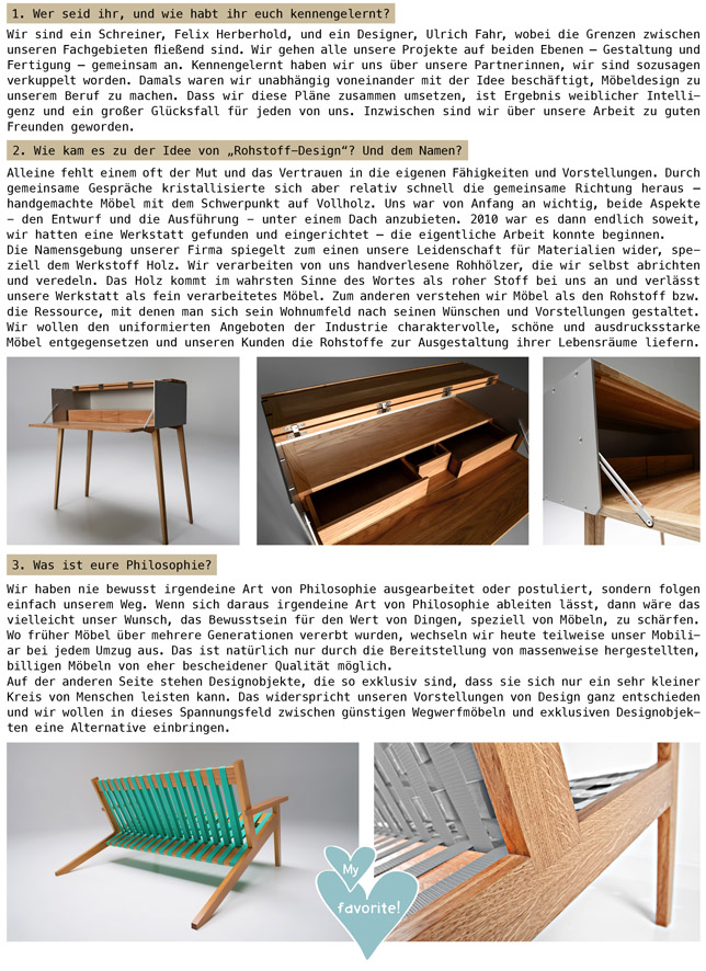 Ynas Design Blog & Rohstoff Design