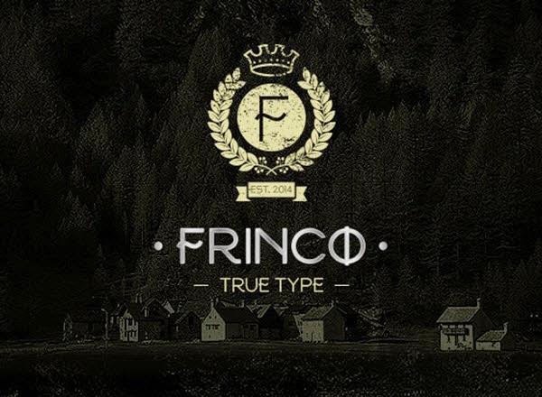 Frinco free font