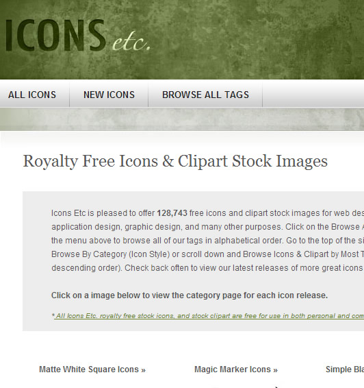 Icon Website : Icons ETC