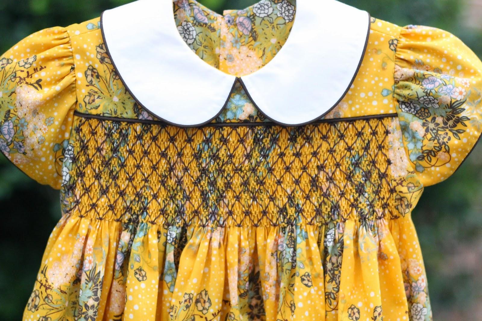 Saint Nolt Sews Modern Vintage Smocked Square Yoke Quot Lee