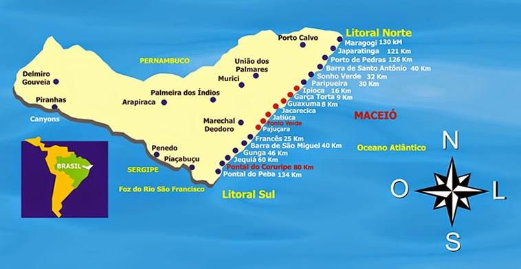 Mapa de Maceió - Alagoas