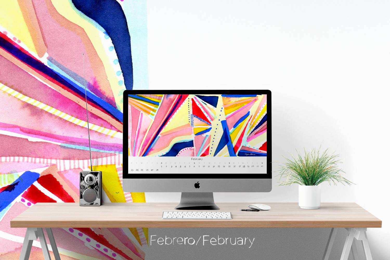 Wallpaper Calendario de Febrero 2015