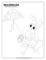 word world ant coloring pages
