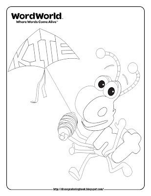 Ant WordWorld Coloring Pages