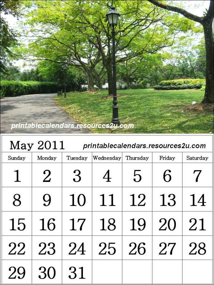 may calendar 2011. free may 2011 calendar