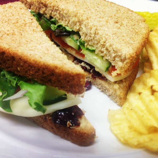 Hummus Sandwich Heaven }