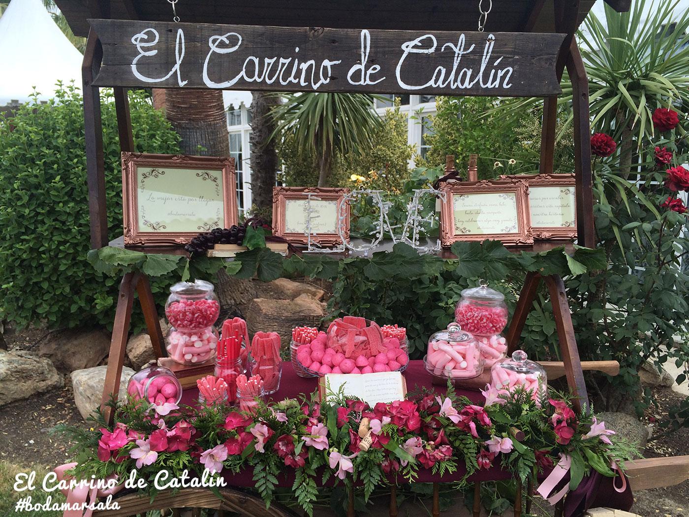 Perdona pero es mi d a by las catalinas boda marsala for Decoracion navidena con chuches