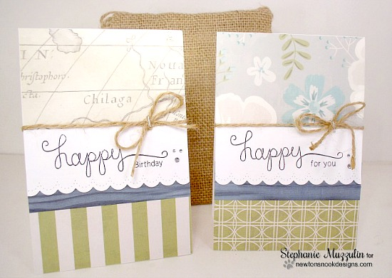 A Happy Set of Cards by Stephanie Muzzulin | Simply Sentimental Stamp set by Newton's Nook Designs #newtonsnook
