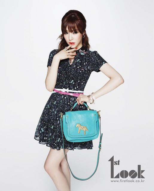 Foto Tiffany SNSD Tampil Cantik seperti Boneka di Majalah First Look