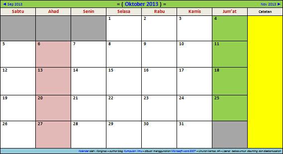 2013 Kalender Cuti Bersama 2013 Kalender Hari Libur Nasional 2013