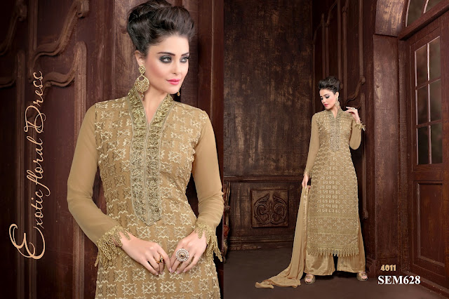 Purchase Poly Georgette Palazzo Style Salwar Kameez