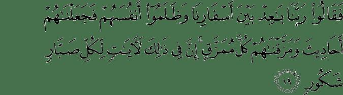 Surat Saba' Ayat 19