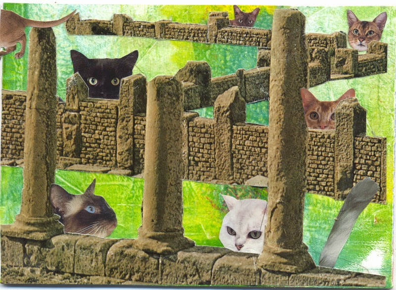 cat postcards for iHanna swap
