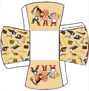 Jake and the Never Land Pirates: Free Printables, Party Favor Boxes.