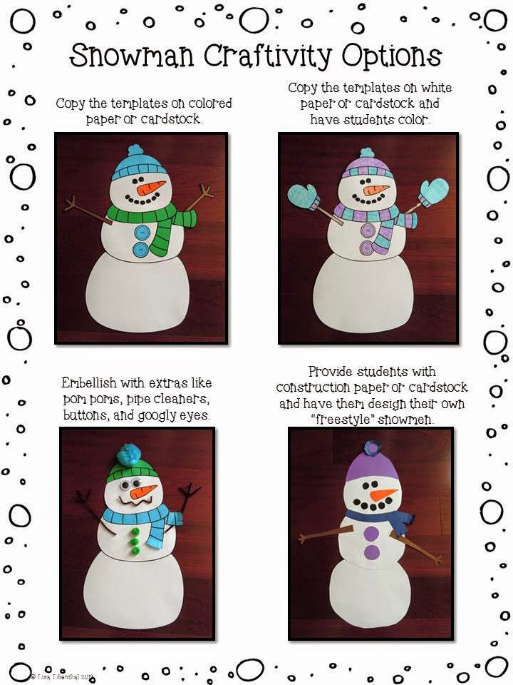 how to make a snowman writing assignment