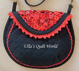 Quilt bag, dress with applique flower