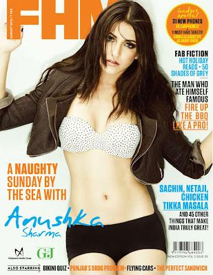 Anushka sharma on fhm cover