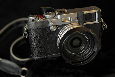 Fuji X100S with soft shutter release button and Think Tank strap.