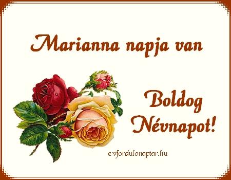 November 1 - Marianna névnap