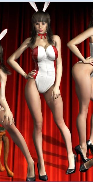 Conejita 3D poser