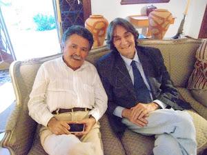 Cláudio Aguiar (presidente do PEN CLUBE DO BRASIL) Vicente de Percia( Crítico de arte e Escritor)