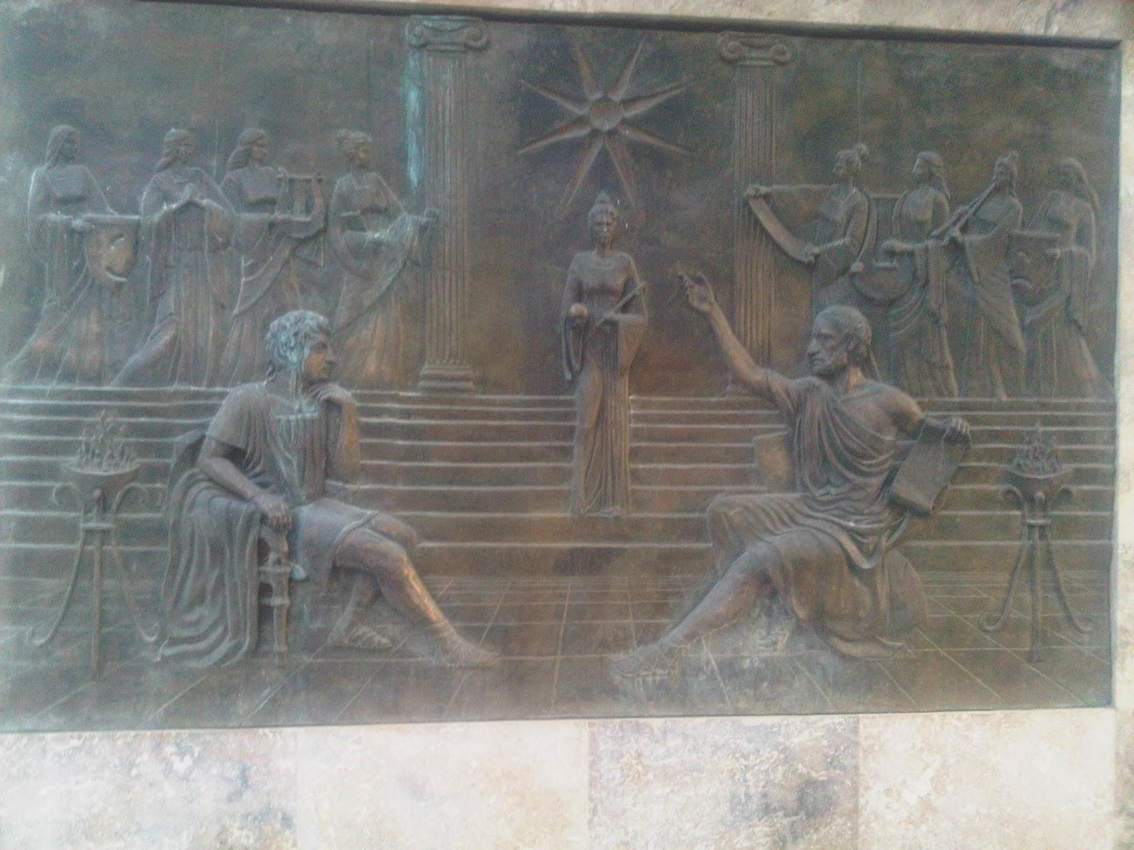 Skopje 20120814 03014 Οι Σκοπιανοί έχουν ανεγείρει μνημείο με τον Αριστοτέλη να διδάσκει τον Μ. Αλέξανδρο... Σλαβικά!!!
