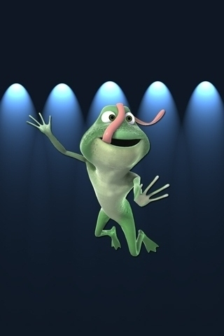 Funny Frog iPhone Wallpaper