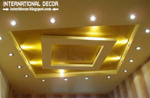 plasterboard ceiling pop design, false ceiling designs, ceiling spot light lighting