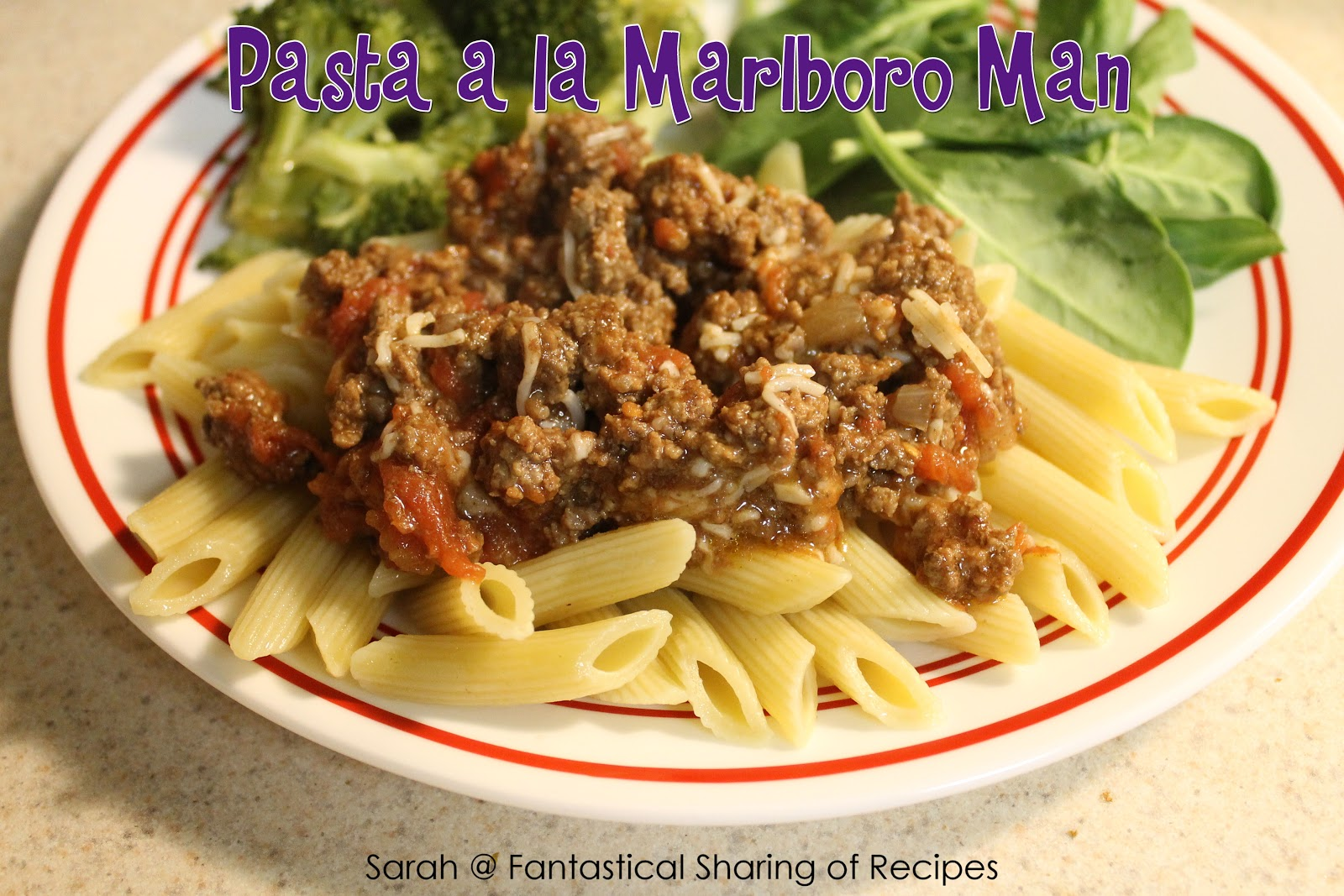 Fantastical Sharing of Recipes: Pasta alla Marlboro Man