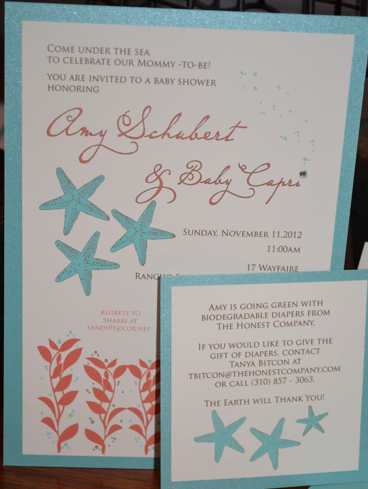rebecca blogs: {Under The Sea} Baby Shower Invitations